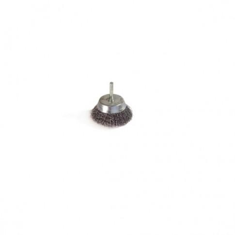 Perie cupa, cu tija, pentru metale moi, Peromex 714103G, diametru 50 mm