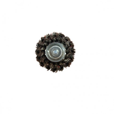 Perie cupa, cu tija, pentru metale / piatra / lemn, diametru 75 mm