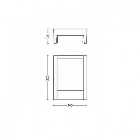 Aplica exterior cu LED Arbour 164609316, 6W
