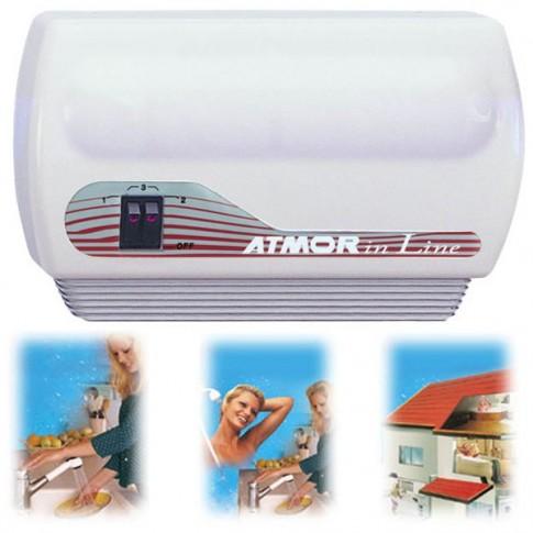 Instant apa calda, electric, Atmor InLine, pentru chiuveta si dus, 3 trepte incalzire 2 kW/3.5 kW/ 5.5 kW, 300 x 185 x 110 mm