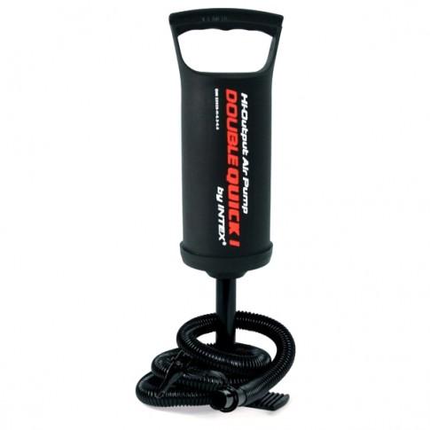 Pompa aer pentru produse gonflabile, manuala, Intex, cu furtun + 3 adaptoare 29 cm