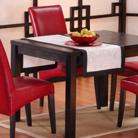 Masa bucatarie fixa Torino, patrata, 4 persoane, neagra, 90 x 90 x 78 cm, 1C
