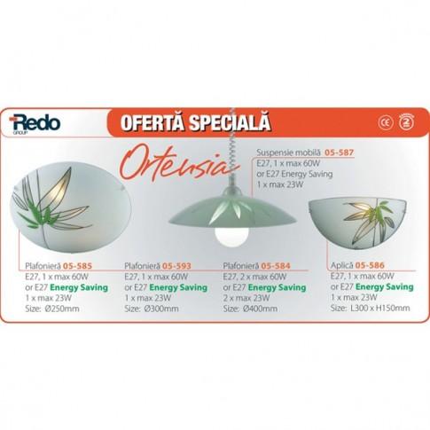 Oortensia plafoniera  1XE27 D300 05-593