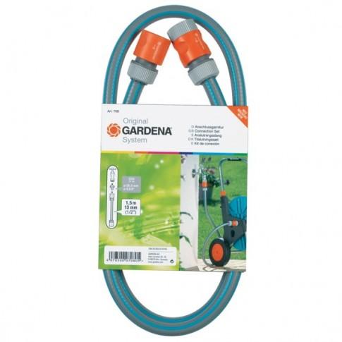 Furtun de gradina, pentru apa, Gardena 18040 20, 12.5 mm, 1.5 m + conectori
