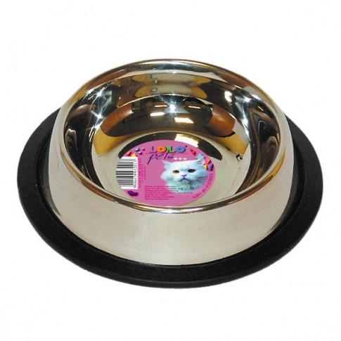 Castron inox pentru pisici, Lolo pets, antiderapant, 0,450 l