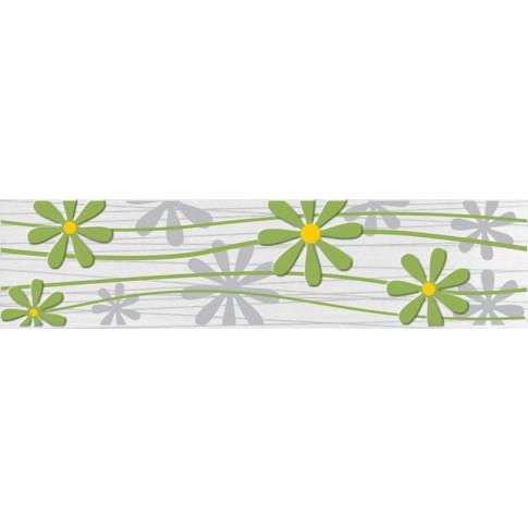 Brau faianta Larissa floral verde mat 6.5 x 25.2 cm