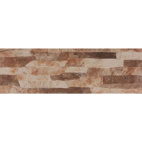 Gresie exterior / interior portelanata Nebraska Arena, mata, imitatie piatra, 17 x 52 cm