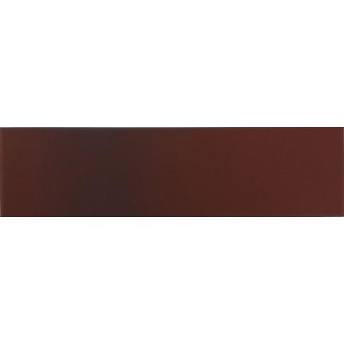 Placa soclu exterior klinker Cieniowana 9560, mata, maro, 6.5 x 24.5 cm