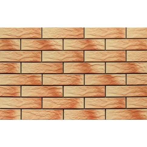 Placa soclu exterior klinker Atakama, 9751, mata, crem, 6.5 x 24.5 cm