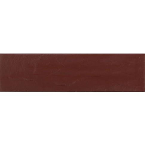 Placa soclu exterior klinker Burgund Plus 9577, mata, maro, 6.5 x 24.5 cm
