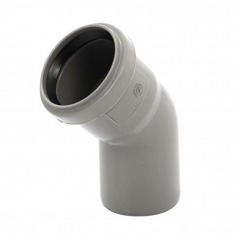 Cot PP HTB, pentru scurgere, D 50 mm, 45  grade