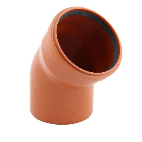 Cot PVC cu inel, D 125 mm, 45 grade