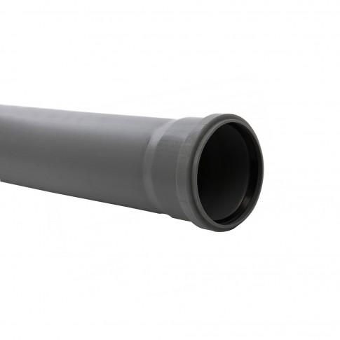 Teava PP pentru canalizare interioara, cu inel, 125 x 3.1 mm, 1 m