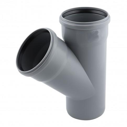 Ramificatie PP HTEA, pentru scurgere, D 125 x 110 mm, 45 grade