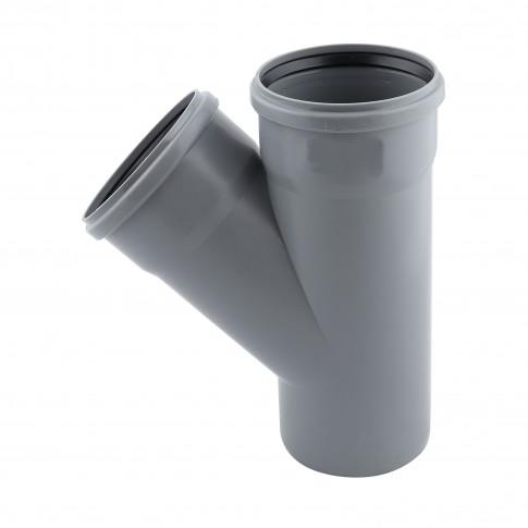 Ramificatie PP HTEA, pentru scurgere, D 50 x 50 mm, 45 grade