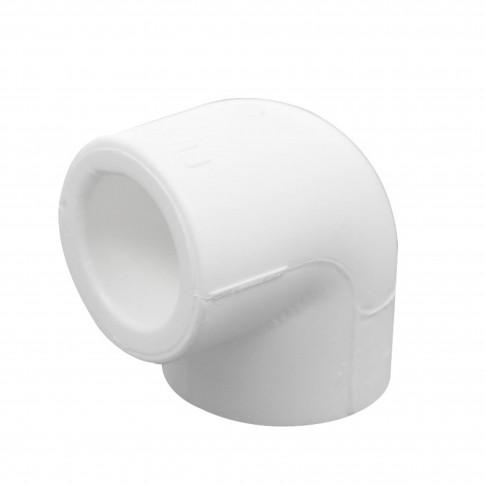 Cot PPR, 20 x 20 mm, alb, 90 grade