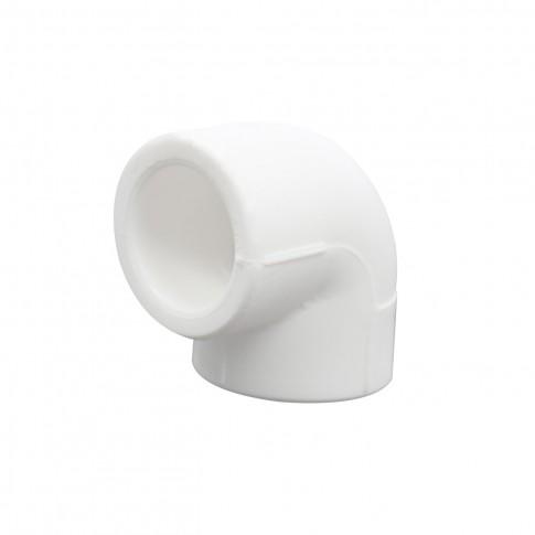 Cot PPR, 25 x 25 mm, alb, 90 grade