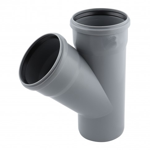 Ramificatie PP HTEA, pentru scurgere, D 32 x 32 mm, 45 grade