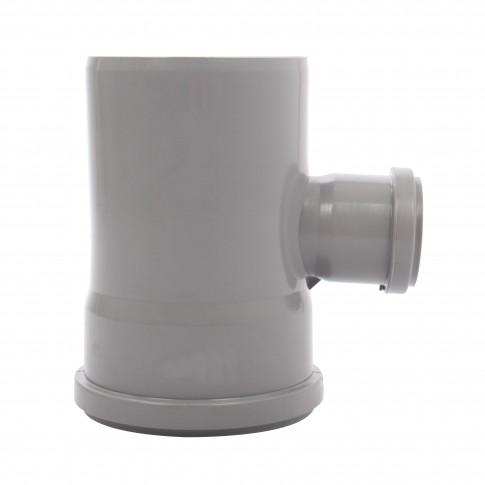Ramificatie PP HTEA, pentru scurgere, D 50 x 40 mm, 87 grade