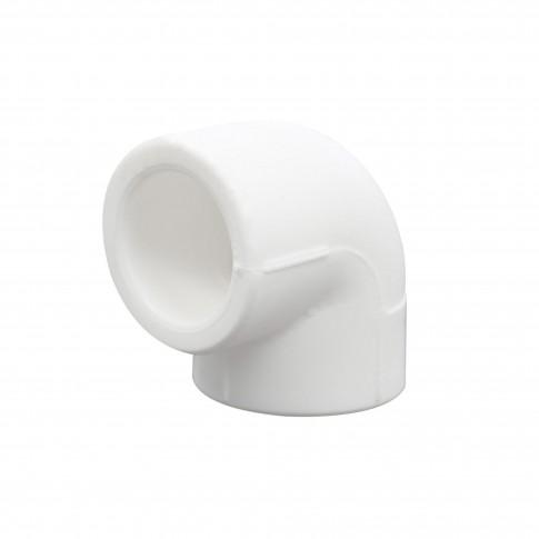 Cot PPR, 50 x 50 mm, alb, 90 grade