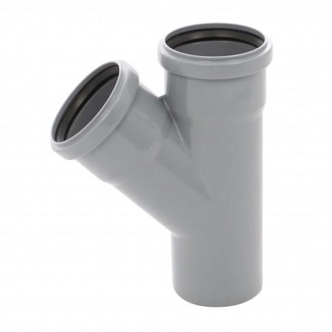 Ramificatie PP HTEA, pentru scurgere, D 75 x 50 mm, 45 grade