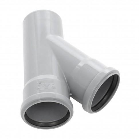 Ramificatie PP HTEA, pentru scurgere, D 75 x 75 mm, 45 grade