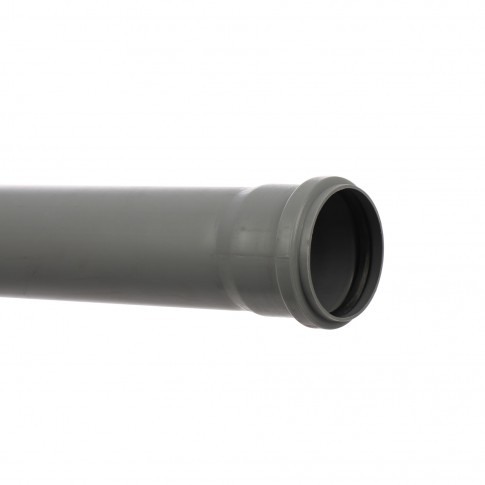 Teava PP pentru canalizare interioara, cu inel, 75 x 1.9 mm, 1 m