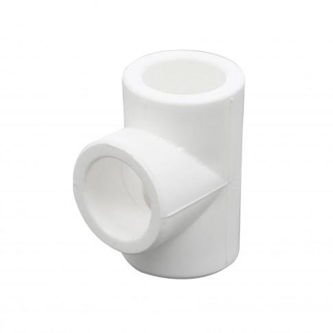 Teu PPR, D 90 mm, alb
