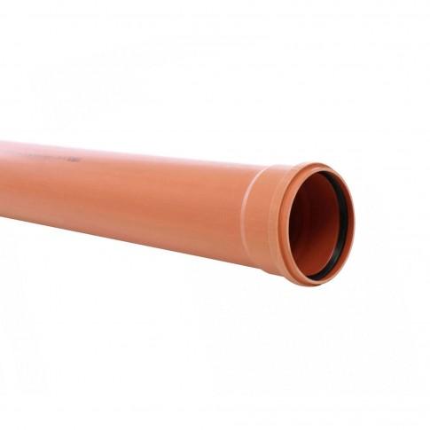 Teava PVC pentru canalizare exterioara, multistrat, SN4, 200 x 4.9 mm, 1 m