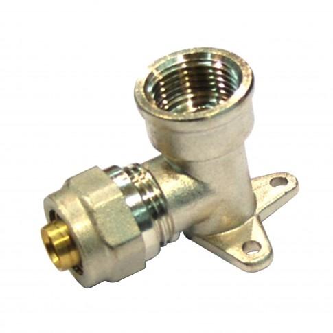 """Cot alama, conector, cu placa, FI, 16 mm x 1/2"""", 754 L"""
