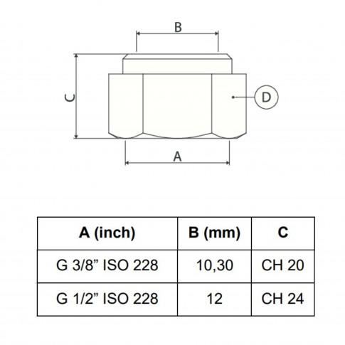 """Reductie alama, FI-FI, 3/4-3/8"""", A591"""