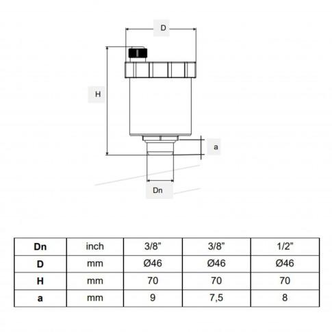 """Robinet aerisire automat, pentru calorifer, APE, A585, 860, D 3/8 """""""