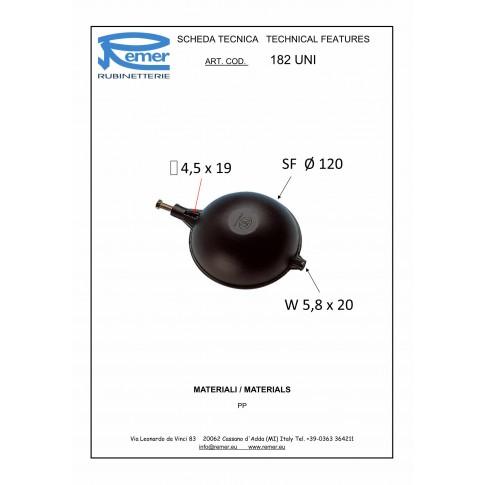 """Plutitor flotor Remer 182UNI, 120295, D 120 mm, D 3/4"""""""