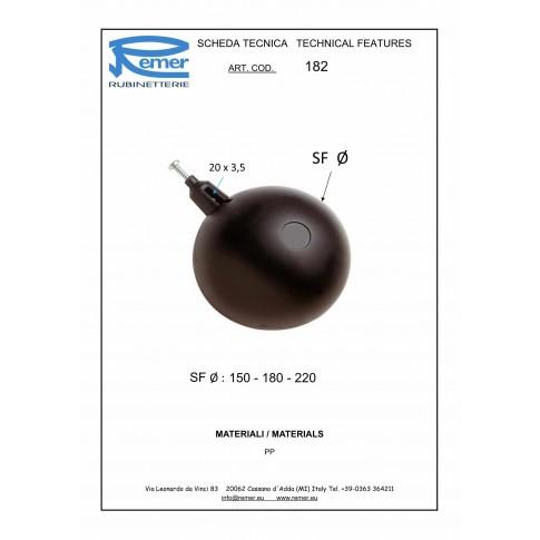 """Plutitor flotor Remer 180, 182180, D 1 1/4"""""""