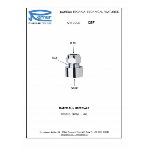 "Niplu alama complet, in 3 piese, FI, 1/2""x 10 mm, 125"