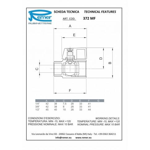 """Robinet minisfera Remer 372MF12, cromat, filet exterior-interior, 1/2"""", maner fluture"""