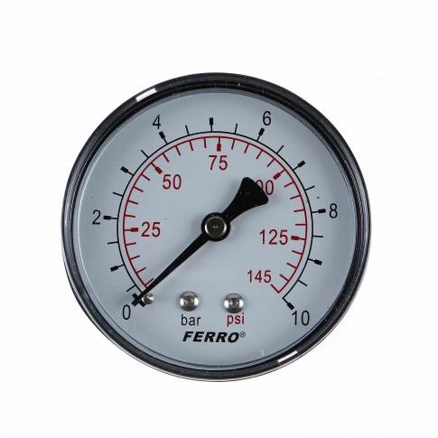 """Manometru axial Ferro M6310A, D 63 mm, 1/4 """", 0 - 10 bar"""