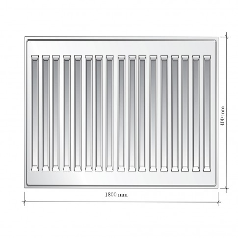Radiator otel Korad 22K, 400 x 1800 mm, fara accesorii