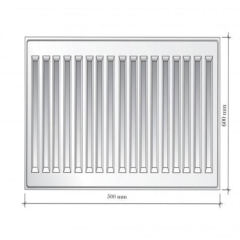 Radiator otel Korad 11K, 600 x 500 mm, fara accesorii