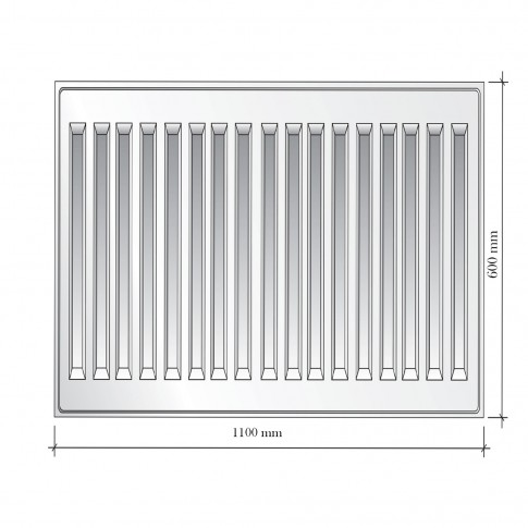 Radiator otel Korad 11K, 600 x 1100 mm, fara accesorii