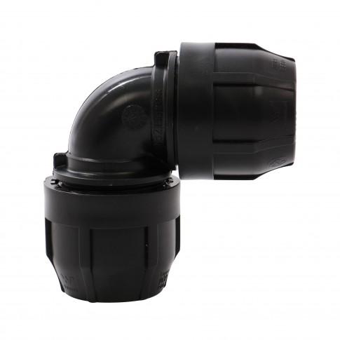 Cot compresiune PEHD, D 40 mm, 90 grade