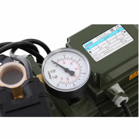 Hidrofor Saer M80, cu pompa autoamorsanta din fonta + vas 50 L + presostat + manometru + furtun flexibil + racord 5 cai, 750 W