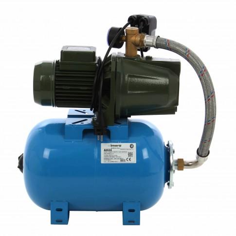 Hidrofor Saer M60, cu pompa autoamorsanta din fonta + vas 24 L + presostat + manometru + furtun flexibil + racord 5 cai, 370 W