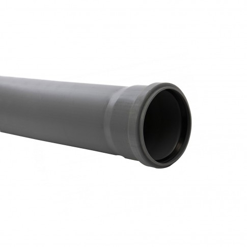 Teava PP pentru canalizare interioara, cu inel, 125 x 3.1 mm, 2 m