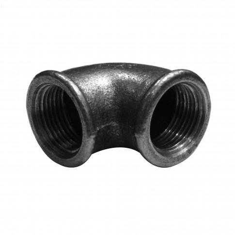"Cot fonta neagra, FI - FI, 1 1/4"", 90 grade"