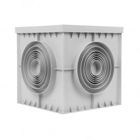 Camin scurgere si evacuare apa, monolitic, co-polimer, 296 x 300 x 300 mm