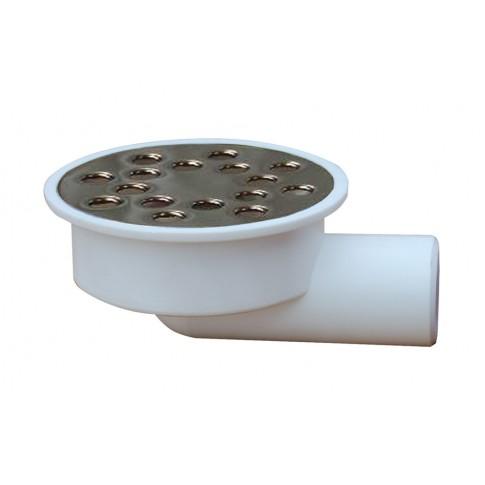 Sifon pardoseala rotund D 80 mm, iesire laterala D 32 mm
