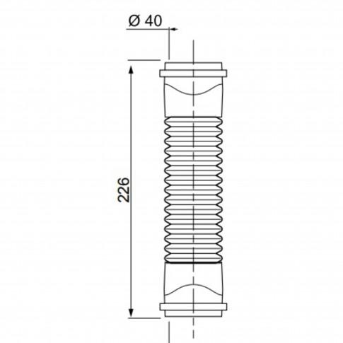 Racord PVC Magicoude Push Fit 79020002, D 40 mm