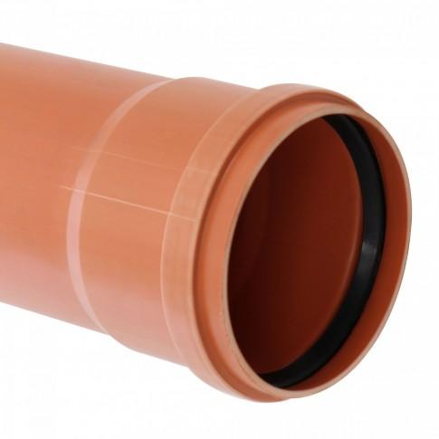 Teava PVC pentru canalizare exterioara, multistrat, SN4, 125 x 3.2 mm, 1 m