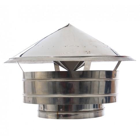 Terminal inox contra ploaie/vant, D 300 mm
